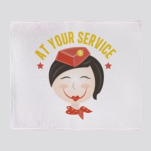At Your Service Throw Blanket
