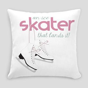 Skater Lands It Everyday Pillow