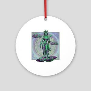Tara Goddess Bodhissatva Round Ornament