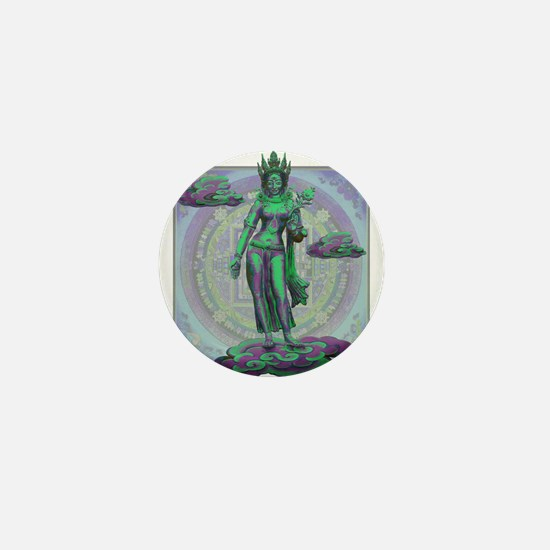 Tara Goddess Bodhissatva Mini Button