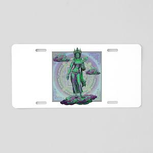 Tara Goddess Bodhissatva Aluminum License Plate