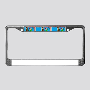 ugly christmas pickle License Plate Frame