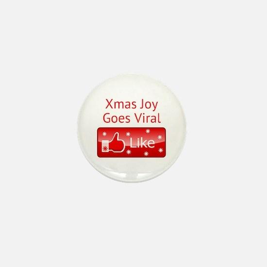 Xmas Joy Goes Viral Mini Button