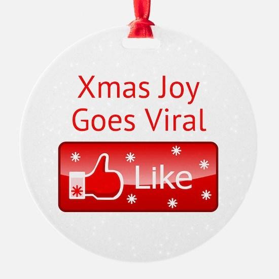 Xmas Joy Goes Viral Ornament