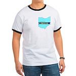 True Blue Ohio LIBERAL Men's Ringer T-shirt
