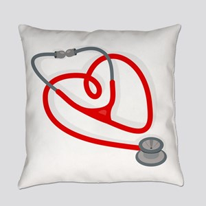 Stethoscope Heart Everyday Pillow
