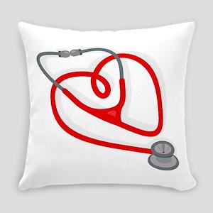 Stethoscope Heart Everyday Pillow