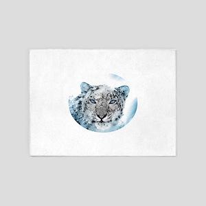 Snowleopard 5'x7'Area Rug