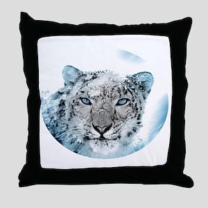 Snowleopard Throw Pillow