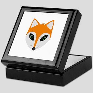 Fox with green eyes Keepsake Box