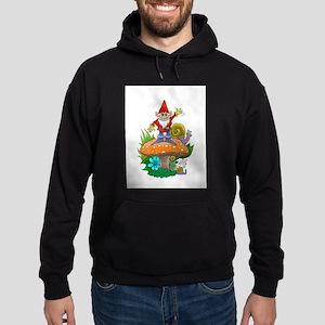 Waving gnome. Hoodie (dark)
