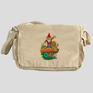 Waving gnome. Messenger Bag