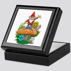Waving gnome. Keepsake Box