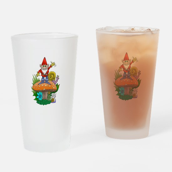 Waving gnome. Drinking Glass