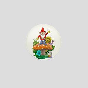 Waving gnome. Mini Button