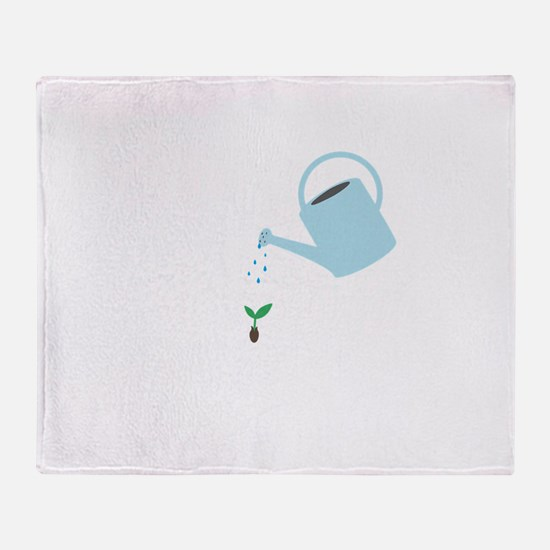 Watering Can Throw Blanket