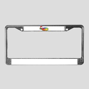 Christmas Rainbow Turtle License Plate Frame