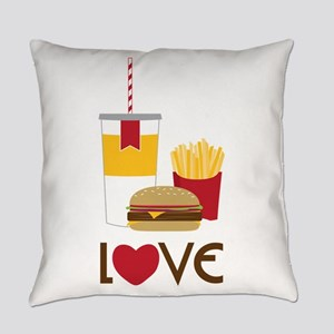 Love Fast Food Everyday Pillow