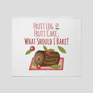 Fruit Log Throw Blanket