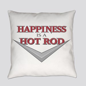 Happiness Is A Hot Rod Everyday Pillow