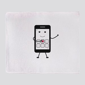 Friendly Smartphone Throw Blanket