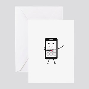 Friendly Smartphone Greeting Cards