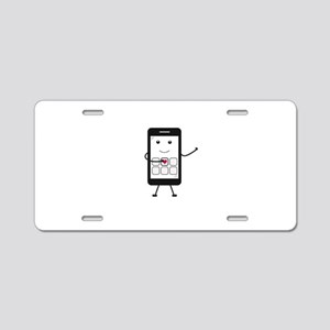 Friendly Smartphone Aluminum License Plate