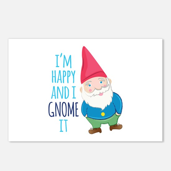 Happy Gnome Postcards (Package of 8)