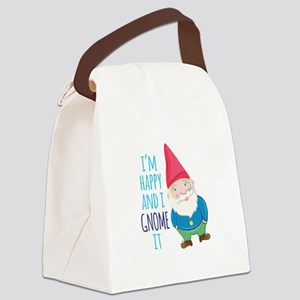 Happy Gnome Canvas Lunch Bag