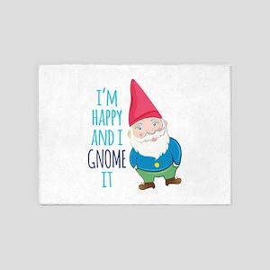 Happy Gnome 5'x7'Area Rug