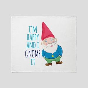 Happy Gnome Throw Blanket