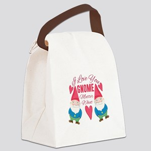 Love You Gnome Canvas Lunch Bag