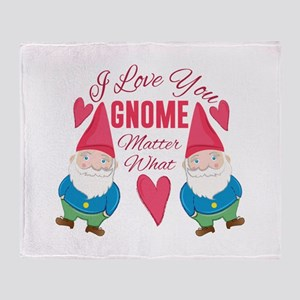 Love You Gnome Throw Blanket