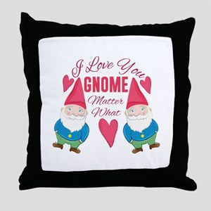 Love You Gnome Throw Pillow