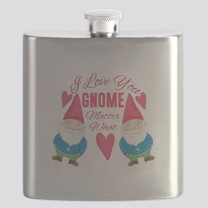 Love You Gnome Flask