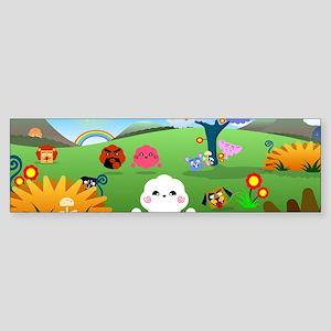 Happy Colorful Planet 01 Bumper Sticker