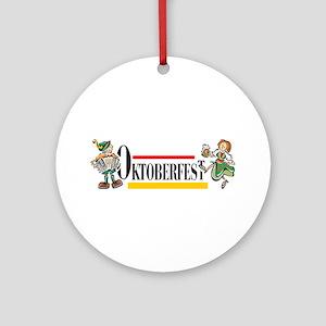 German Oktoberfest Ornament (Round)