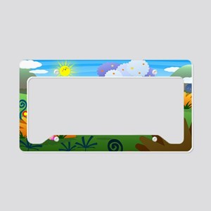 Happy Colorful Planet 01 License Plate Holder