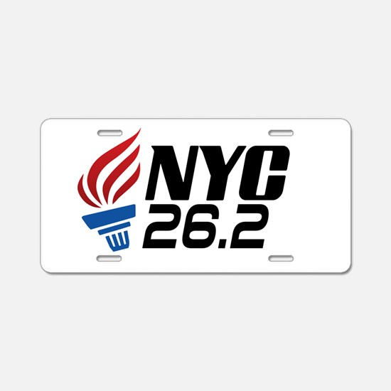 NYC Marathon Aluminum License Plate