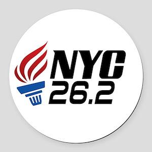 NYC Marathon Round Car Magnet
