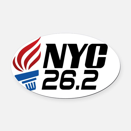 NYC Marathon Oval Car Magnet
