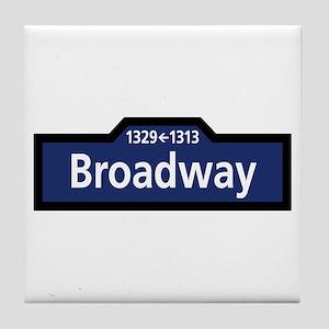 Broadway, New York City Tile Coaster
