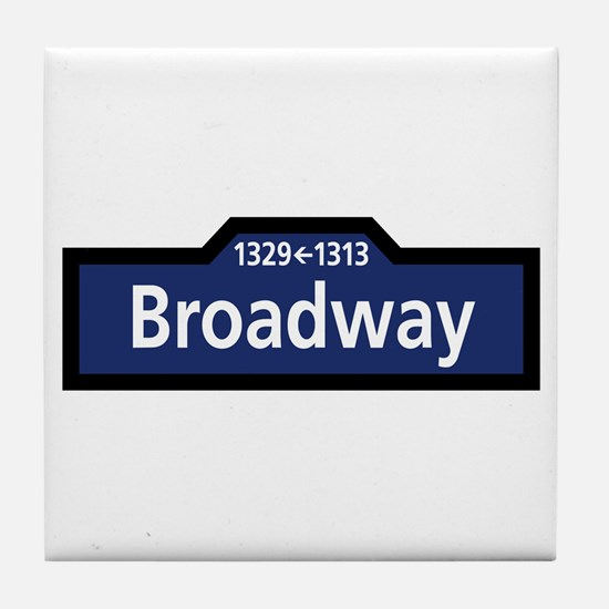 Broadway, New York City Tile Coaster