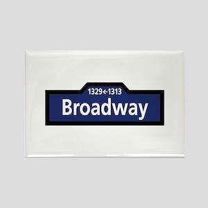 Broadway, New York City Rectangle Magnet