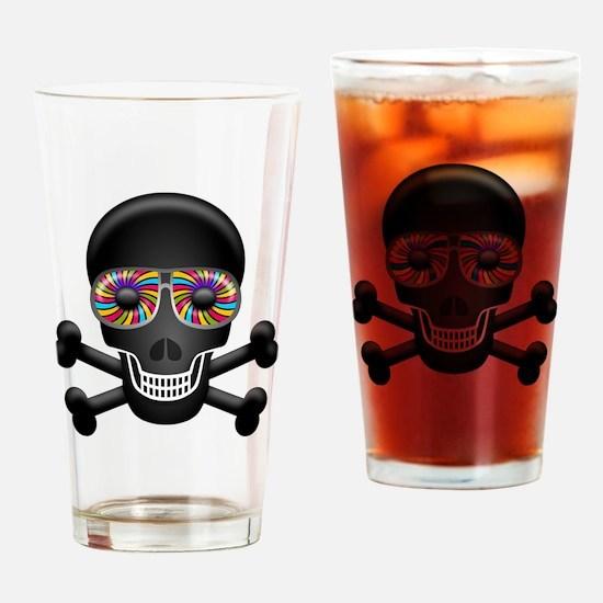 Cute Yellow skull Drinking Glass