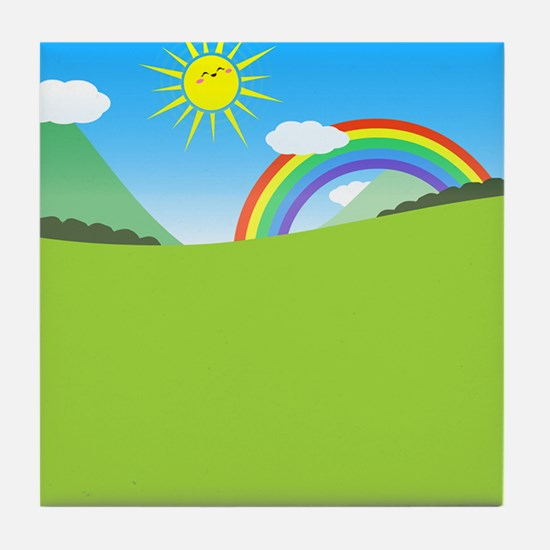 Happy Colorful Planet 03 Tile Coaster