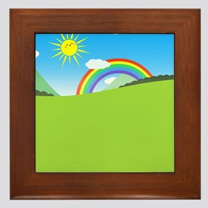 Happy Colorful Planet 03 Framed Tile