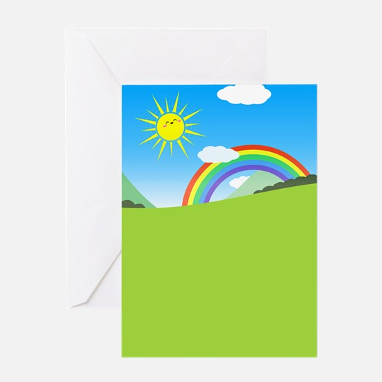Happy Colorful Planet 03 Greeting Cards
