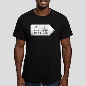 Dead Sea, Israel Men's Fitted T-Shirt (dark)