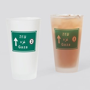Gaza, Palestine Drinking Glass